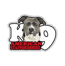 AUTO Adesivo Sticker AMERICAN STAFFORDSHIRE k9 CANE CANI wilsigns siviwonder