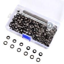 6/8/10mm 100 Set Gunmetal Black Leather Craft Grommet Eyelet Washer Punch Tools