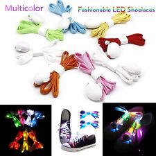 Cool LED Glowing Shoelaces Night Luminous Shoe Strip Party Club Pub 3Modes RK744