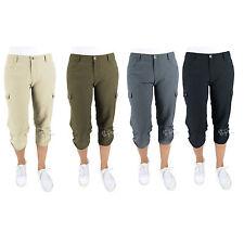 NWT Woolrich Women Trek Hiking Cargo Capri Pants Size 6-14 Gray/Khaki/Navy/Green