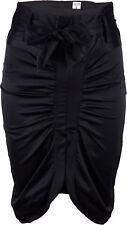 Concisamente Pencil Skirt pin up satin GONNA/SKIRT NERO ROCKABILLY