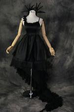 H-135 Vocaloid Miku Kleid Deep Sea Girl Cosplay Kostüm schwarz Gothic Lolita