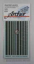 Archer S-Scale (1/64) Resin Louver Assortment Mix (5 different widths) AR88075
