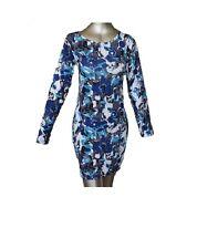 Women Ladies Plain Mini Body con Dress Tunic Top Printed Full Sleeve Dresses