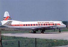 Skyline Sweden Vickers 814 Viscount SE-FOY  Postcard