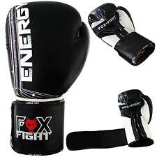 fox-fight ENERGY Guantes de Boxeo Cuero Cajas Taekwondo Muay Thai Mma Gloves