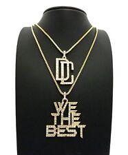 """Hip Hop DC, We the Best Pendant 18"""", 20"""", 24"""", 27"""", 30"""" Box Chain Necklace Set"""