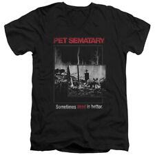 Pet Sematary 1989 Horror Movie Sometimes Dead Is Better Cat Adult V-Neck T-Shirt