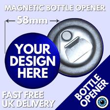 58mm Custom Magnetic Bottle Opener Personalised Bespoke Hen Stag Wedding Party