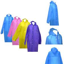 MUJER HOMBRE Chubasquero alta calidad chaqueta impermeable TRANSPARENTE Capucha