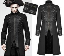 Manteau steampunk pirate gothique dandy cuir craquelé vintage PunkRave Homme N
