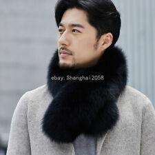 Genuine Men's fur shawl Real Fox fur big Fur collar scarf warm Scarves