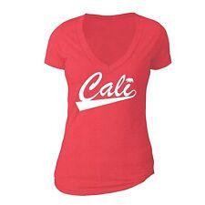 California Republic State T-Shirt Summer Flag Bear West Side Cali Tshirt Red