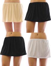Mini Unterrock Gummibund Falten Rock Minirock kurz Skirt Unterwäsche