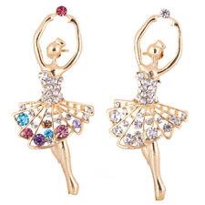 Dancing Ballet Girl Brooch Rhinestone Brooch Pin Jewelry Lady Bridal AccessoryJX