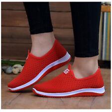 Women's Mesh Sports Casual Shoes Slip On Running Walking Sneakers Flat Shoes Hot