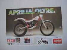 advertising Pubblicità 1986 MOTO APRILIA TX 311