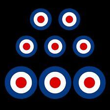 RAF MOD - Roundel Target Sticker - Bulk Pack & Single - van, car, scooter, vespa