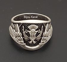 Kayi Boyu Ertugrul Dirilis Herren Männer Silber Ring Selcuklu Bozkurt Göktürk ..
