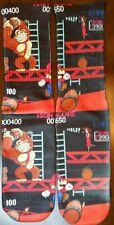Custom Donkey Kong VS Mario socks  gamma galaxy bred