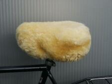 Sattelbezug Fahrrad Satteldecke Lammfell - extra gross für Gelsättel + Ergometer