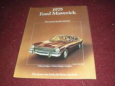 NOS 1975 FORD MAVERICK 2DR 4DR AND GRABBER UNCIRCULATED ORIGINAL SALES BROCHURE