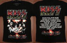 KISS Fire Logo,Kissworld Tour 2017 NEW Authentic Official Licensed Tour T-Shirt