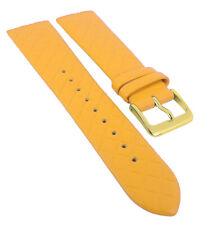 Minott Uhrenarmband | Leder gelb Raute passend zu Skagen Denmark 29775