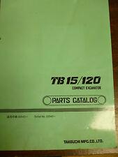 TAKEUCHI TB15/120 COMPACT EXCAVATOR PARTS MANUAL