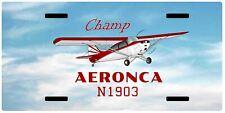 Aeronca Champ 7AC Airplane License Metal Plate - Add Your N#