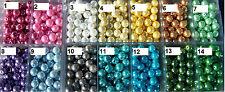 50 Glaswachsperlen Perlen 8mm metallic Basteln Tisch Schmuck Streudeko Perle #