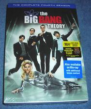 THE BIG BANG THEORY COMPLETE SEASON FOUR DVD PLUS BONUS MYSTIC WARLORDS T-SHIRT
