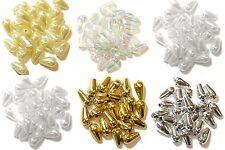 Fabrique artisanale goutte ovale perles billes de plastique 6x9mm choisir les couleurs couture boîte 7g