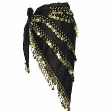 Belly Dance Skirt velvet Hip Scarf Tribal Triangle Costume Belt Halloween cloak