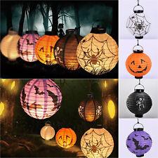 Halloween Decor LED Paper Lantern Hanging Pumpkin Bats Spider Lamp Home Props