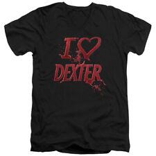 Dexter I Heart Dexter Mens V-Neck Shirt
