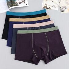 Mens Cotton Breathable Underwear Boxer Briefs Shorts Bulge Pouch Underpants Hot