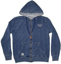 MAGLIA FELPA UOMO M L XL XXL 3XL giacca cappuccio blu jeans cotone Be Board