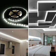 5m LED Strip Cool White 60Leds/m 3528 SMD Lighting Tape + 220V to 12V 2A Adapter