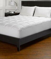 Comfort Mattress Pad 18 Inch Deep Pocket Egyptian Cotton White Striped US Sizes