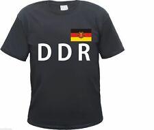DDR t-shirt negro/blanco con bandera-s hasta 3xl República Democrática Alemana