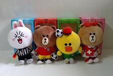 HK McDonald LINE Friends SOCCER LEAGUE Plush Toys Dolls - Brown Choco Cony Sally