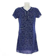 Camicia da notte donna  estate in cotone  manica corta con tasca   7DECAM027