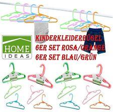 6er Set Kleiderbügel Kinderkleiderbügel Wäschebügel Bügel mit Hosenstange Kinder