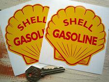 Shell super gasoline 4 pouces classique pompes à essence Voiture Autocollants