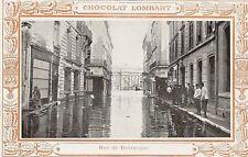 CPA CHOCOLAT LOMBART PARIS 1910 RUE DE BOURGOGNE
