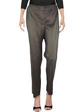 Pantalone donna verde cotone ramie I BLUES max mara dritto tg it 44 46 w 30 32