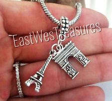 Paris France travel Eiffel tower charm pendant For Bracelet necklace-European