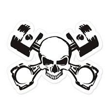 Skull and Crossbones Mechanic Car Vinyl Sticker - SELECT SIZE