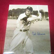 Cal Abrams signed/auto Dodgers photo-baseball